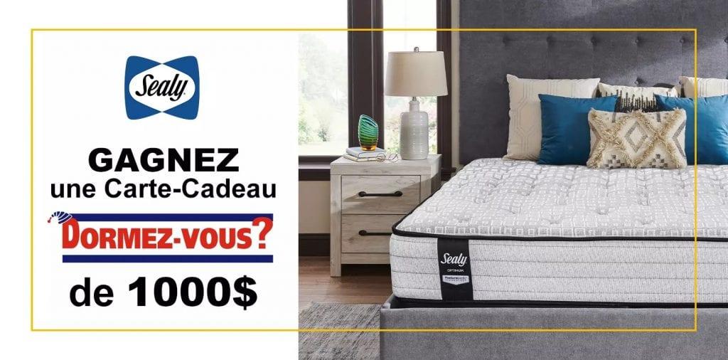 Concours Québec – Carte-cadeau Dormez Vous De 1000 $