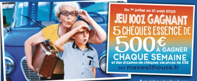 5 chèques carburant de 500 euros