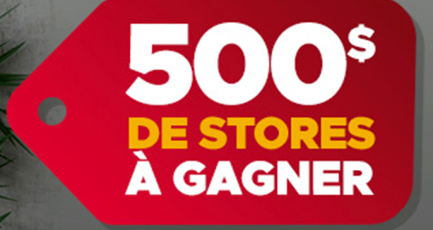 Gagnez 500$ De Stores