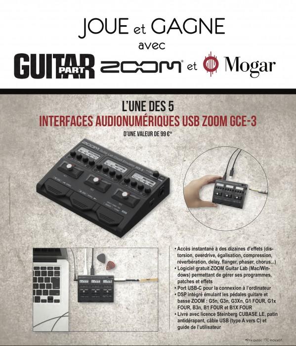 5 interfaces audionumériques USB Zoom GCE-3