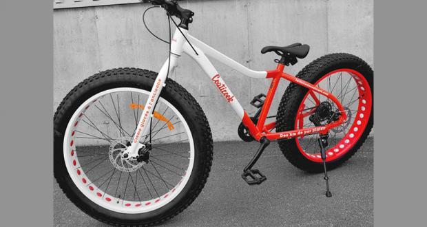 Un Vélo À Roue Surdimensionnées Fatbike
