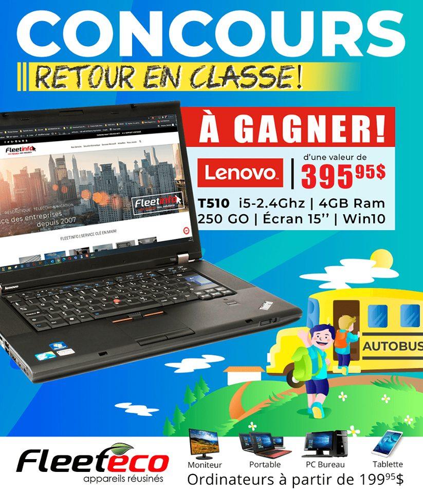 Chance de Gagner Un Portable Lenovo