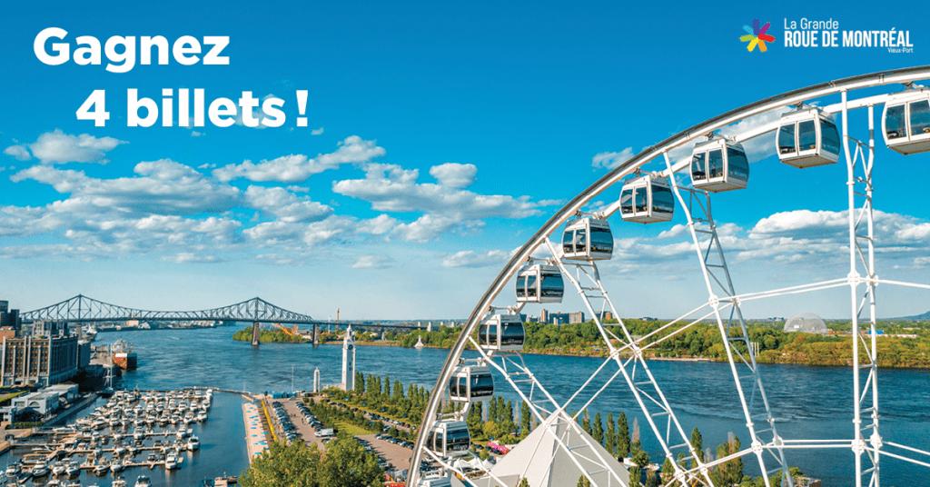 4 Billets Pour La Grande Roue De Montréal
