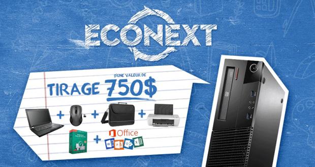 Gagnez un ensemble ordinateur portable de 750$