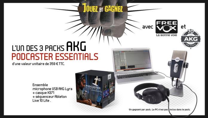 L'un Des Trois Packs AKG Podcaster Essentials