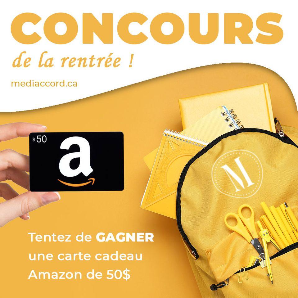 Une Carte Cadeau Amazon.com D'une Valeur De 50$