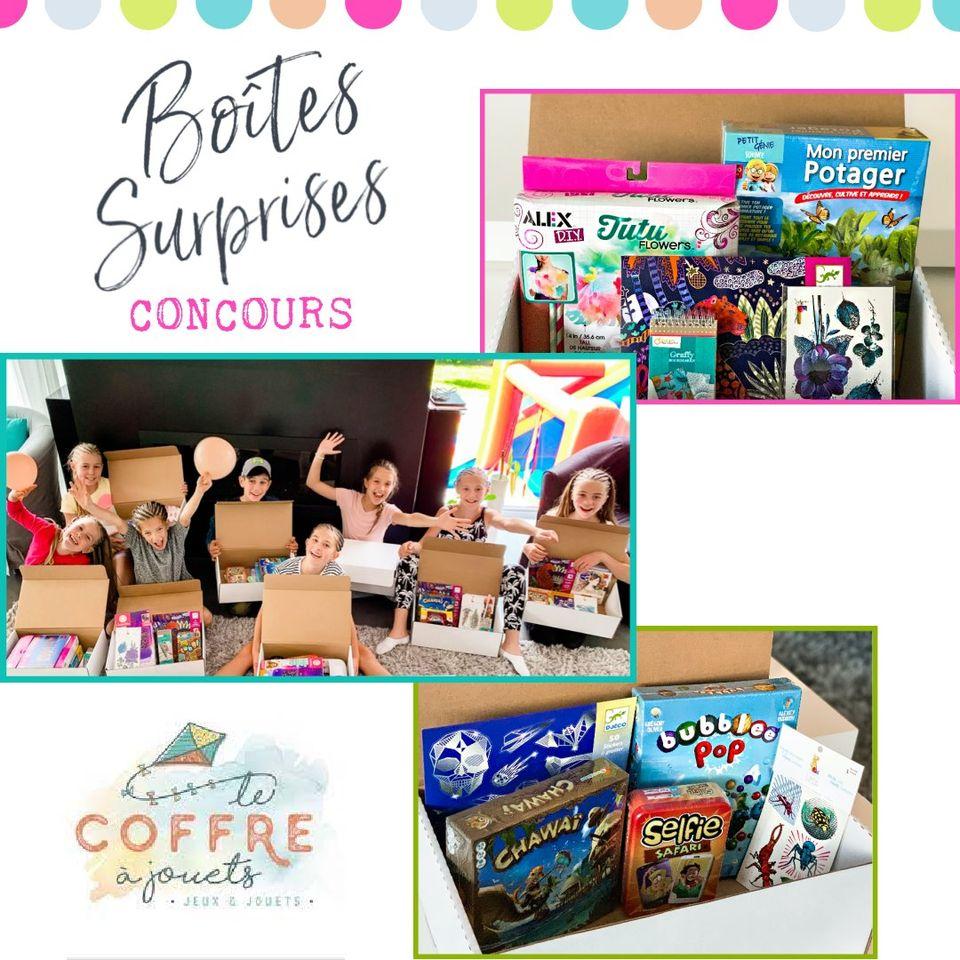 Une Boîte Surprise Remplie De Jouets Et De Jeux