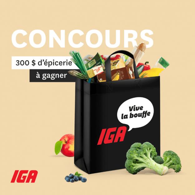 Concours Québec – 300$ d'épicerie chez IGA
