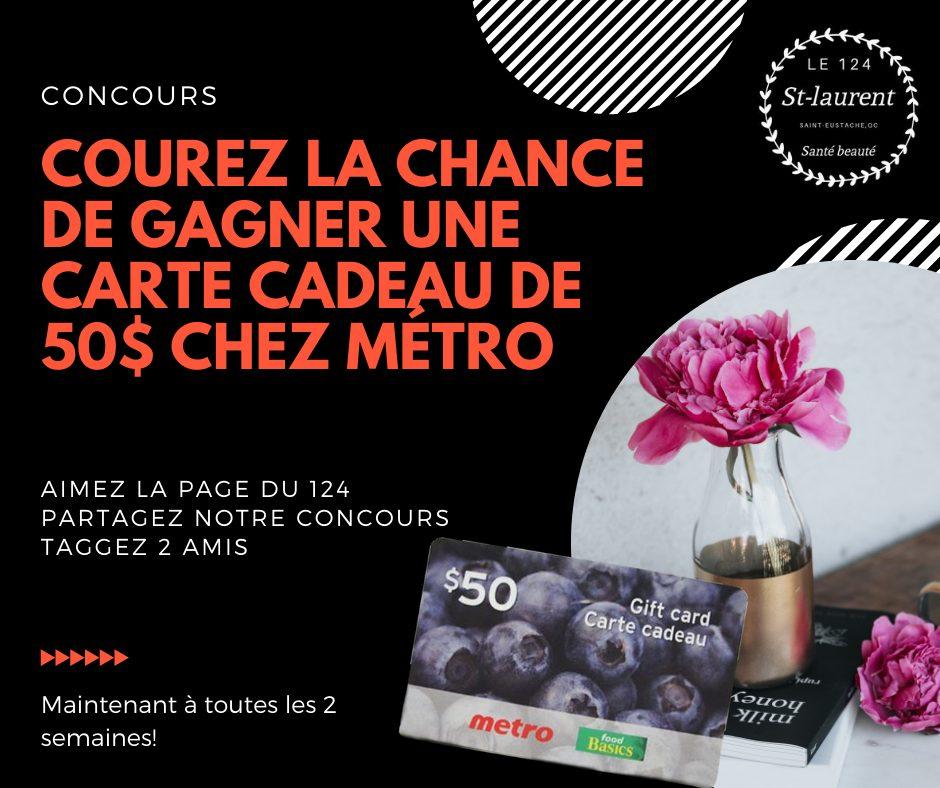 Concours Du Québec Une Carte Cadeau De 50$ Chez Métro