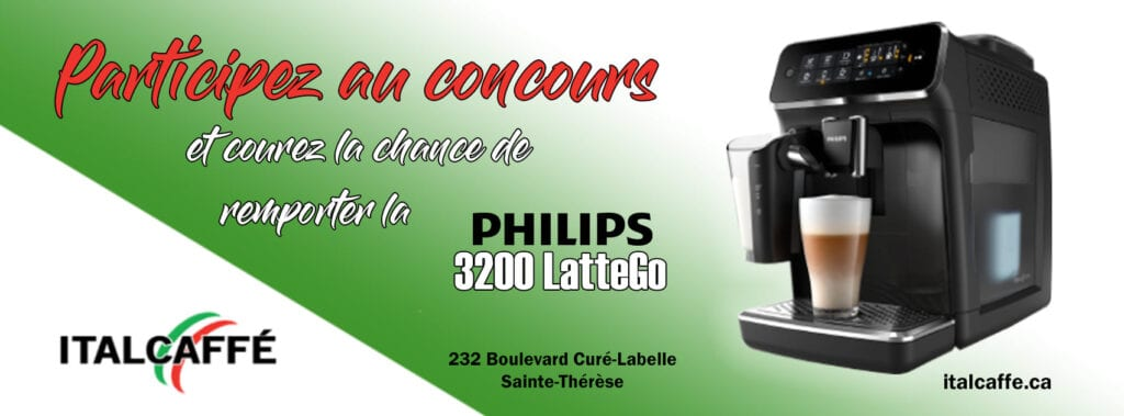 Une machine à café Philips 3200 LatteGo