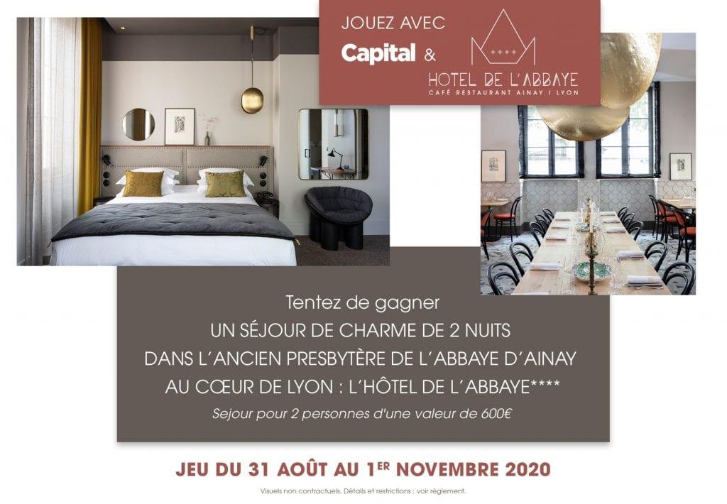 1 séjour de 2 nuits pour 2 personnes à l'hôtel de l'Abbaye à Lyon