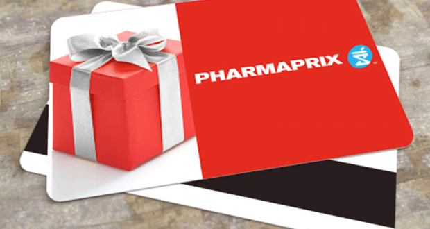 4 cartes-cadeaux Pharmaprix de 50 $