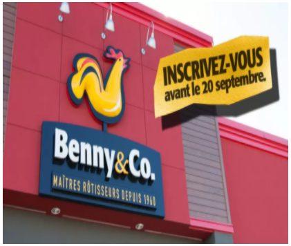 Gagnez du poulet Benny&Co. pendant un an