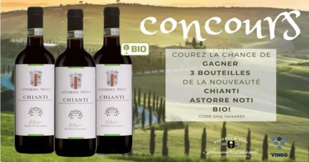 Concours Québec – La Nouveauté D'Alma Wines, Le Chianti Astorre Noti Bio