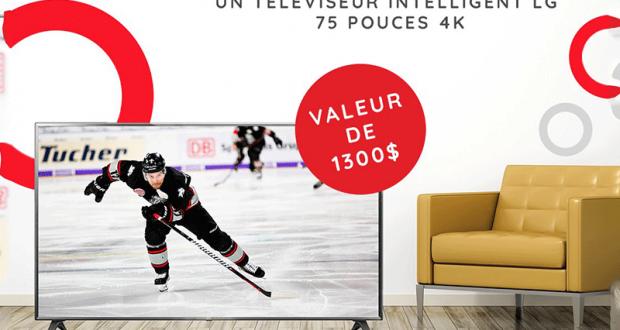 Gagnez Un Téléviseur LG 75 pouces 4K