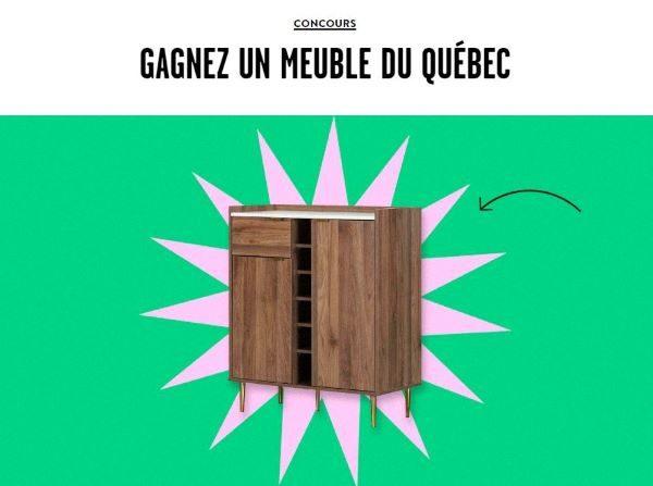 Gagnez Un Meuble Du Québec