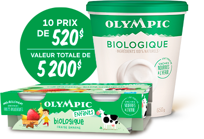 Un Année De Coupons Pour L'achat De Yogourts Olympic