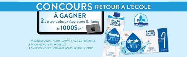 Concours Québec – 2 Cartes-cadeaux App Store & ITunes