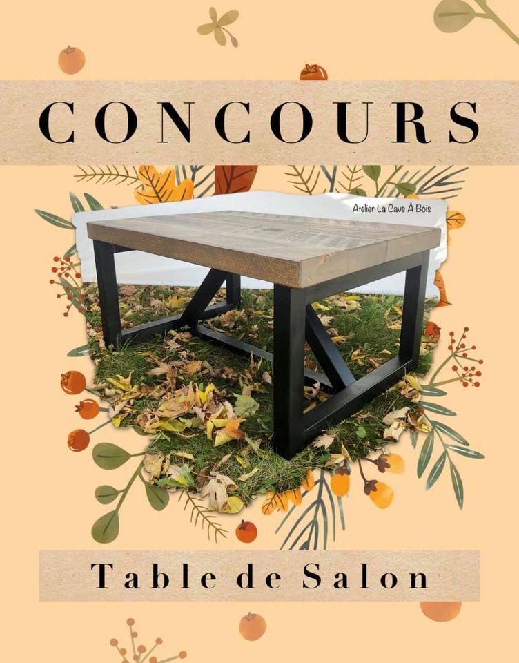 Une Table De Salon Faite À La Main Par Un Artisan