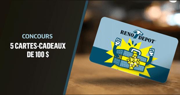 5 Cartes-cadeaux Réno-dépot D'une Valeur De 100$ Chacune