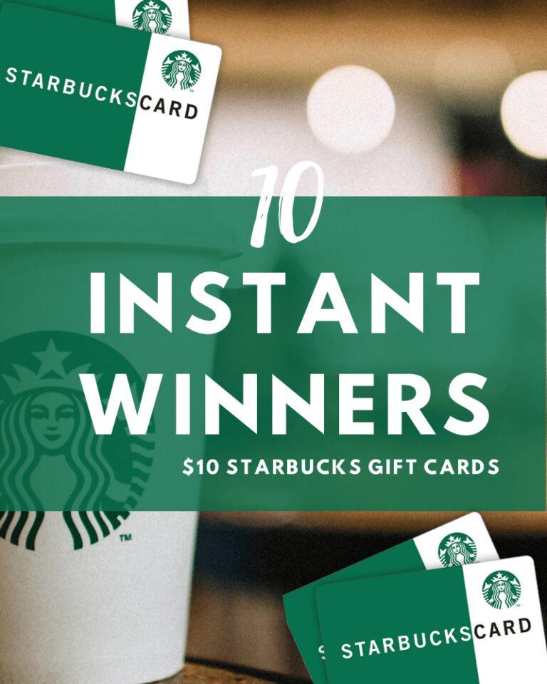 Gagnez 10 Cartes-cadeaux Starbucks