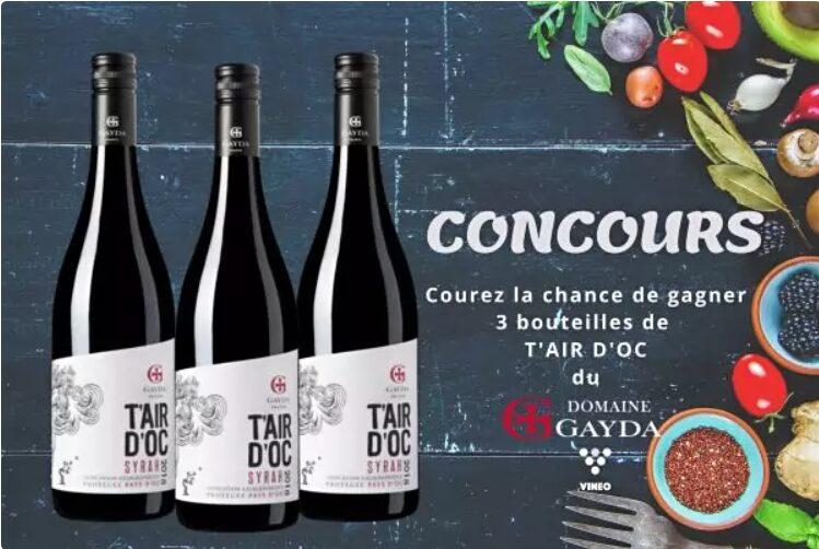 3 Bouteilles De T'air D'oc Du Domaine Gayda