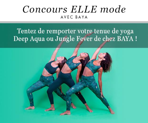 Gagnez 15 tenues de yoga de chez BAYA
