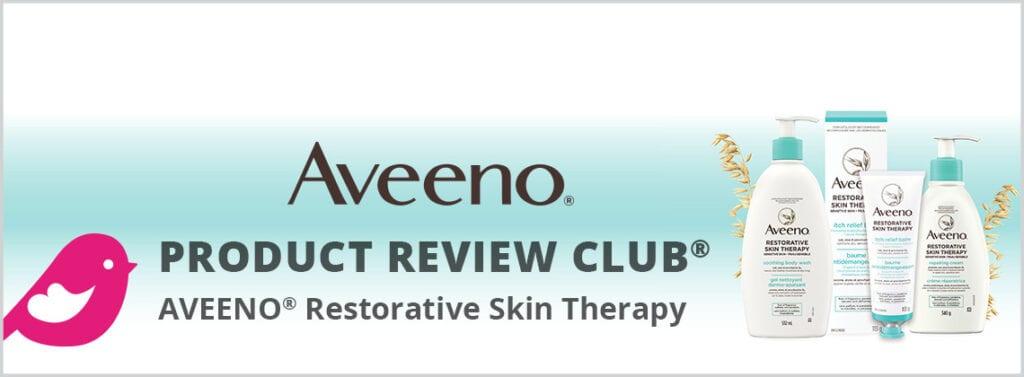 Les produits de thérapie réparatrice de la peau Aveeno