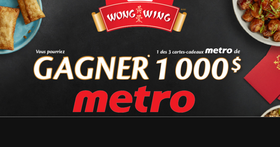 GAGNEZ UNE CARTE-CADEAUX MÉTRO (1000$)