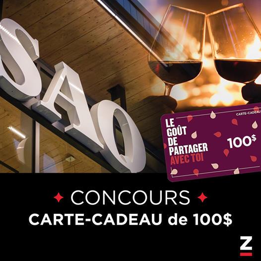 GAGNEZ UNE CARTE CADEAU D'UNE VALEUR DE 100$ À LA SAQ!