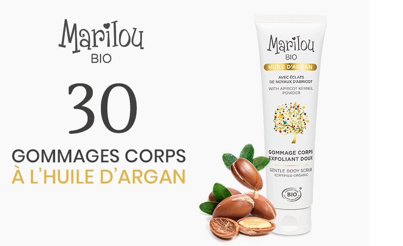 Gagnez 30 gommages pour le corps à l'Huile d'Argan bio Marilou Bio
