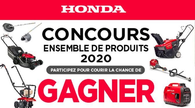 GAGNEZ 1 ENSEMBLE DE PRODUIT HONDA 2020