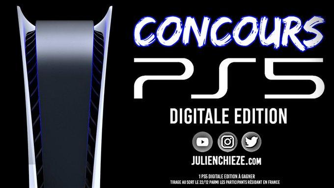 GAGNEZ 1 console de jeux PS5 Digitale Edition