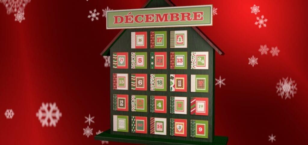 Le calendrier de Noël concours Salut Bonjour