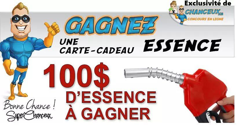 GAGNEZ 100$ EN ESSENCE