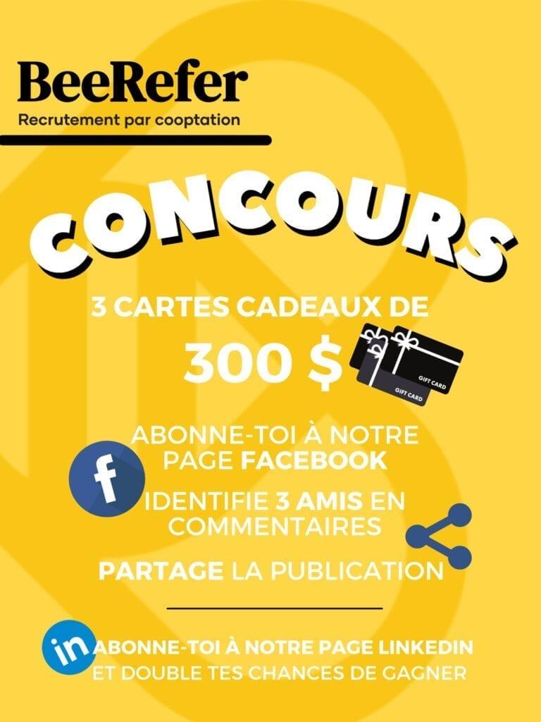 GAGNEZ L'UNE DES 3 CARTES CADEAUX DE 300$!