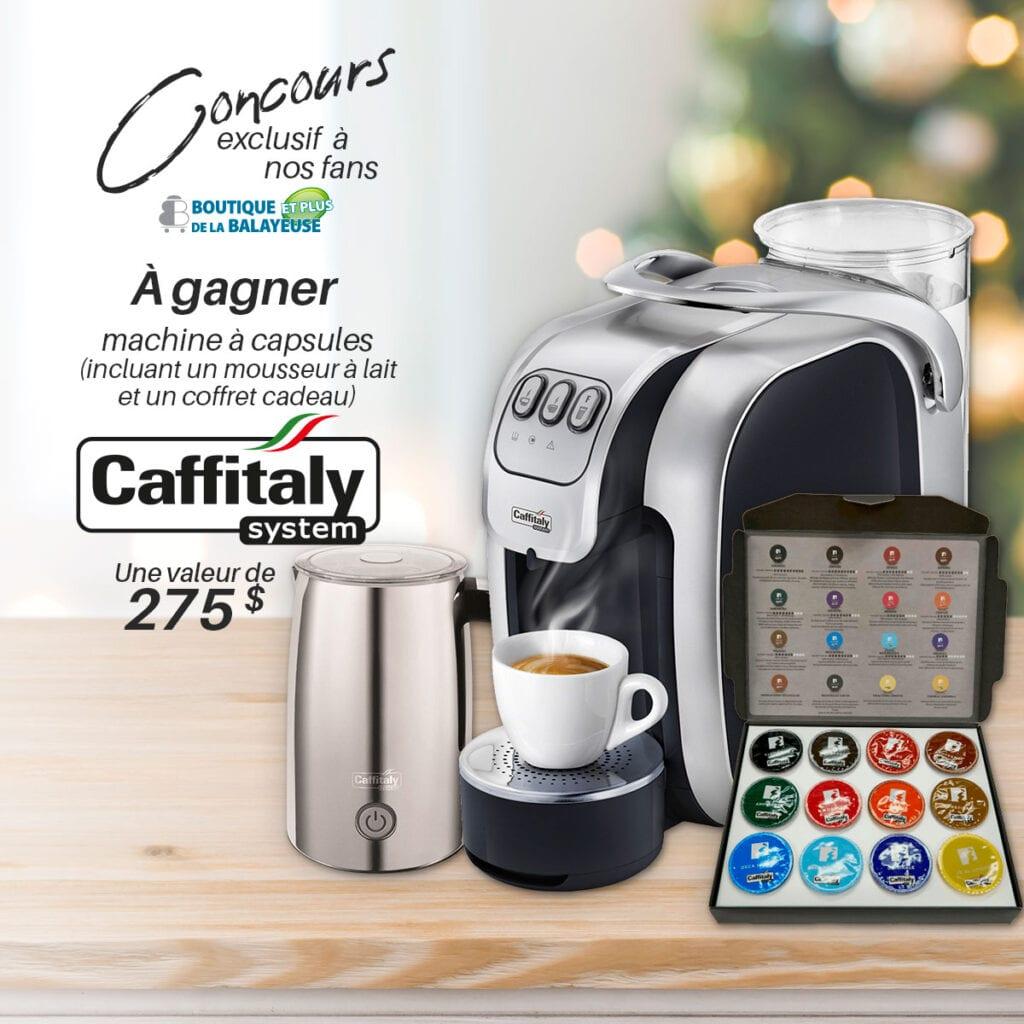 GAGNEZ GAGNEZ UNE MACHINE À CAPSULES DE MARQUE CAFFITALY!