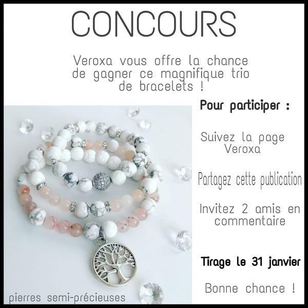 Gagnez ce superbe trio de bracelets offert par Veroxa par Véronique Patrie!