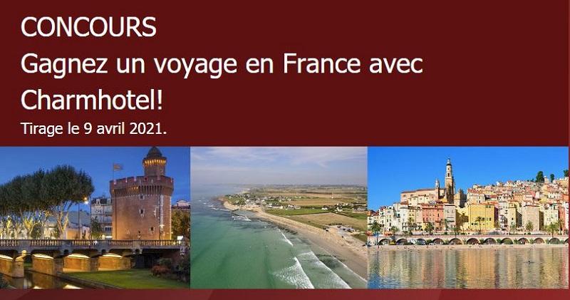 GAGNEZ UN VOYAGE EN FRANCE AVEC CHARMHOTEL!