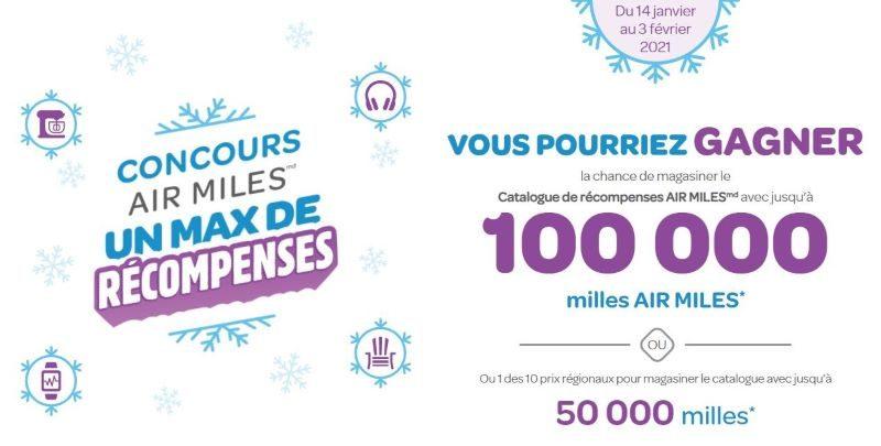 Concours du Québec - UN MAX DE RÉCOMPENSES AIR MILES!
