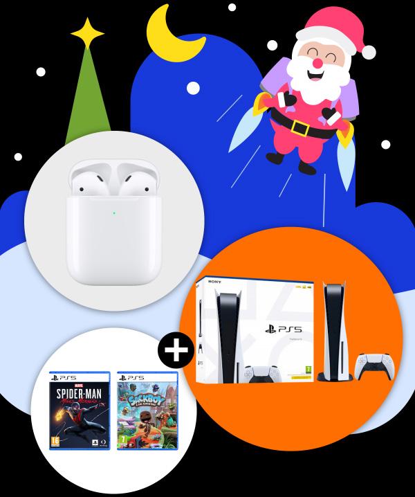 Gagnez 1 console Playstation 5 avec 2 jeux vidéo PS5 (630 euros)