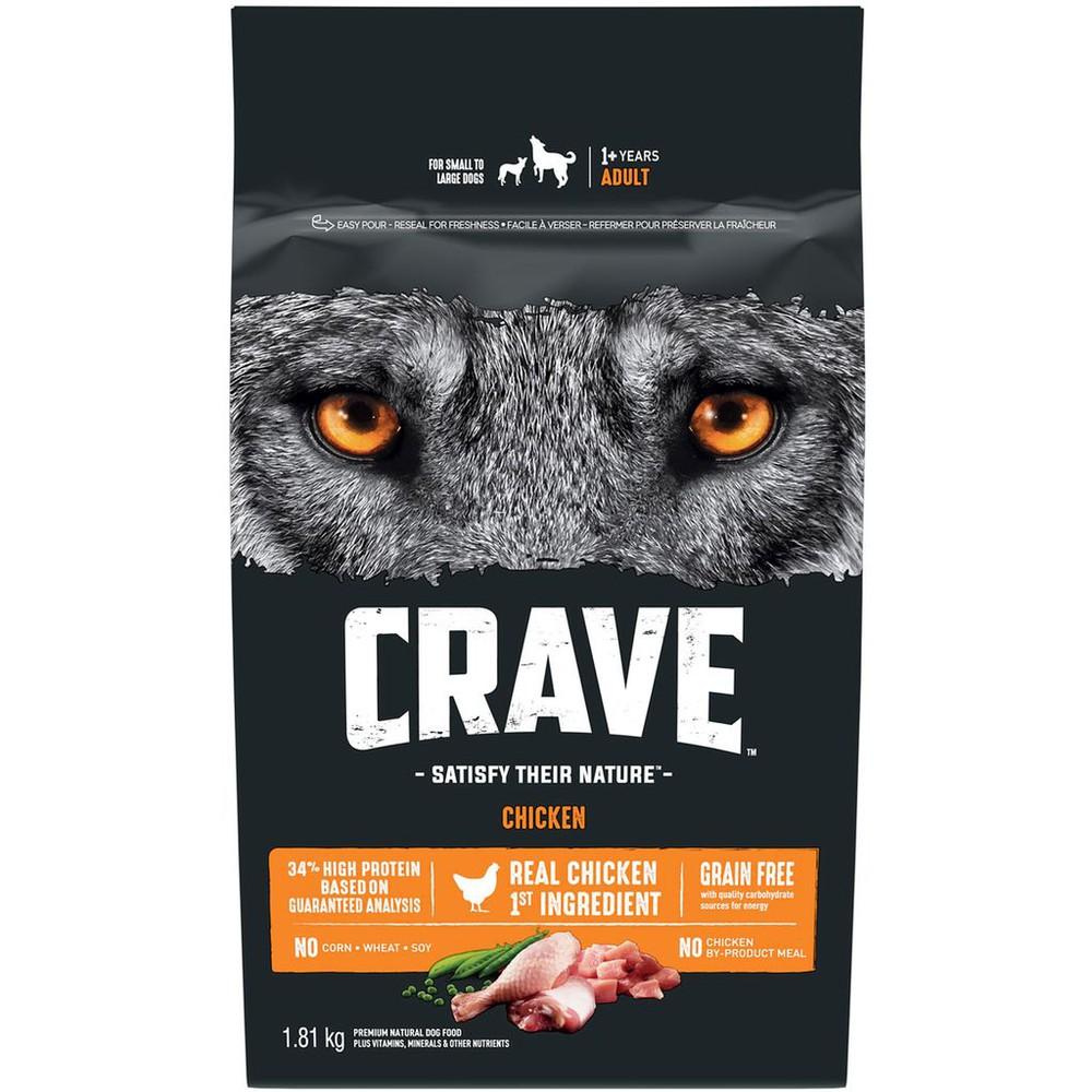 """Gagnez 1000 lots composés de 6 mois de nourriture """"Crave"""""""