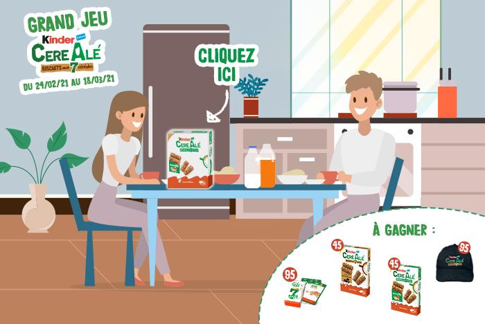 Gagnez 45 paquets de Kinder cereAlé aux éclats de noisettes