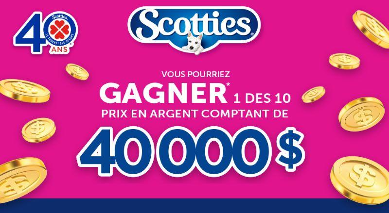 GAGNEZ 1 DES 10 PRIX EN ARGENT COMPTANT DE 40 000$!