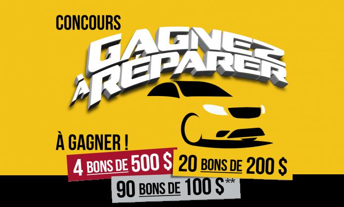 GAGNEZ L'UN DES 114 BONS-RÉPARATION AUTOPLACE POUR FAIRE RÉPARER OU ENTRETENIR VOTRE VÉHICULE!