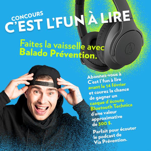GAGNEZ UN CASQUE D'ÉCOUTE BLUETOOTH TEHNICA D'UNE VALEUR DE 300$!