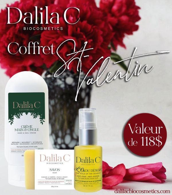 GAGNEZ UN COFFRET SAINT VALENTIN OFFERT PAR DALILA C BIOCOSMETICS!