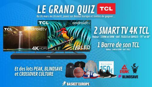 Gagnez 1 smart TV 4K TCL 75