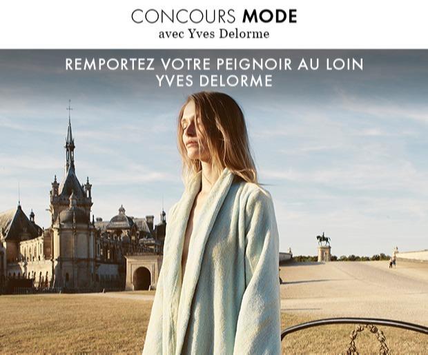 """Gagnez 7 peignoirs modèle """"Au Loin"""" par Yves Delorme (275 euros)"""