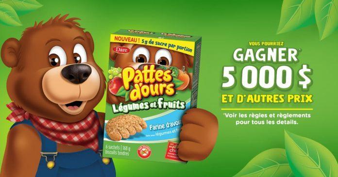 Gagnez un montant de 5000$ ou 1 an de Pattes d'ours Dare!